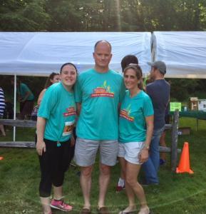 Izzy, Rick, Jodi pre-race