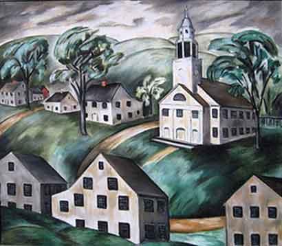 North Church, Woodbury. Oil, 22 x 25 in., ca. 1930